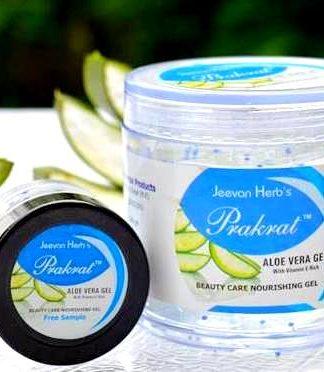 prakrat, aloevera gel, vitamin E, jeevan herbs , jeevan herbal products, herbal, herbal skin care, alovera, gel, face gel
